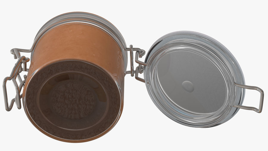 Peanut Butter in a Glass Jar royalty-free 3d model - Preview no. 10