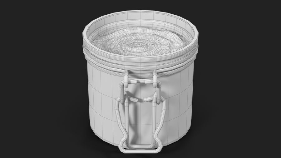 Peanut Butter in a Glass Jar royalty-free 3d model - Preview no. 31