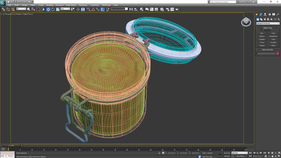 Peanut Butter in a Glass Jar royalty-free 3d model - Preview no. 20