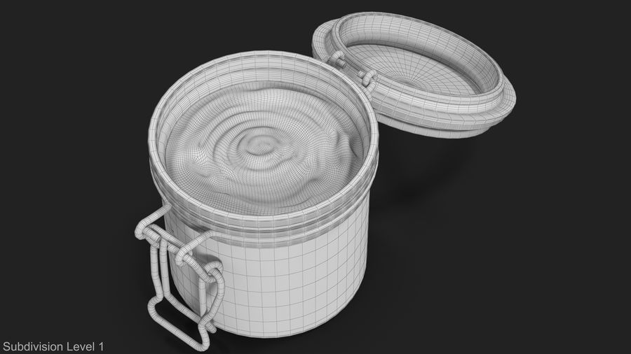 Peanut Butter in a Glass Jar royalty-free 3d model - Preview no. 17