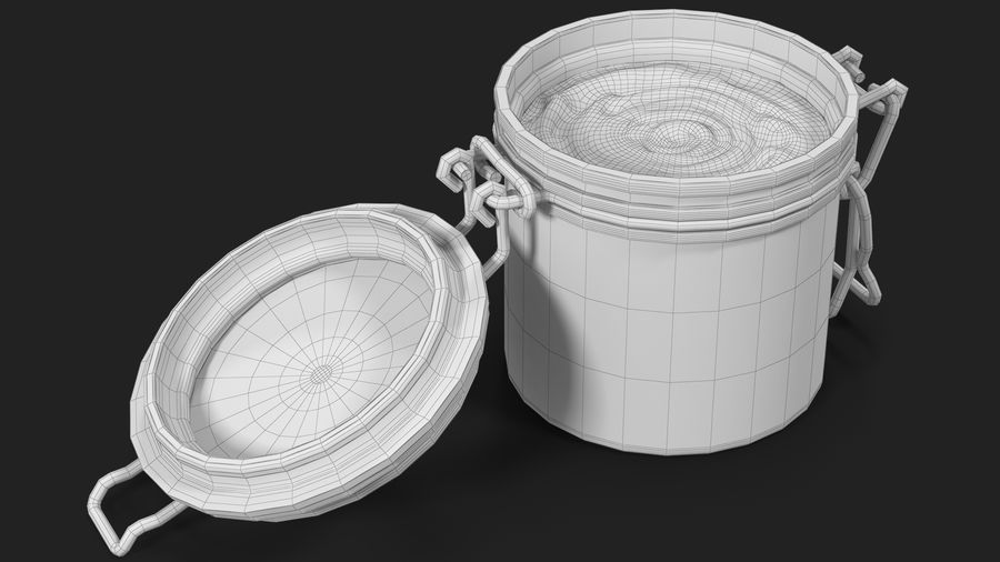 Peanut Butter in a Glass Jar royalty-free 3d model - Preview no. 22