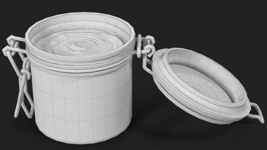 Peanut Butter in a Glass Jar royalty-free 3d model - Preview no. 30