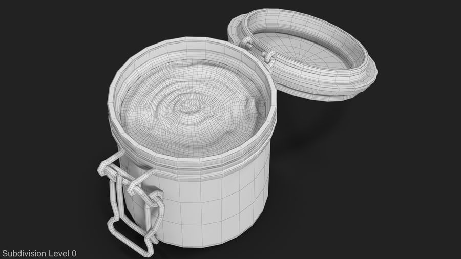 Peanut Butter in a Glass Jar royalty-free 3d model - Preview no. 16