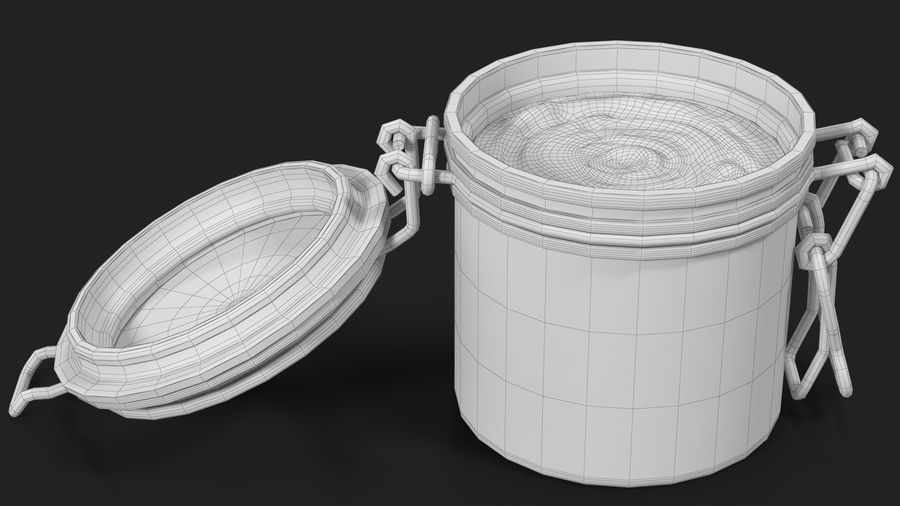Peanut Butter in a Glass Jar royalty-free 3d model - Preview no. 32