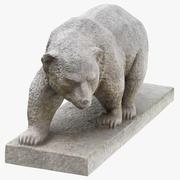 石熊雕像01 3d model