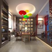 Chinese tea room 3d model