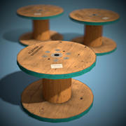 Holzrolle Spielbereit Low Poly 3d model