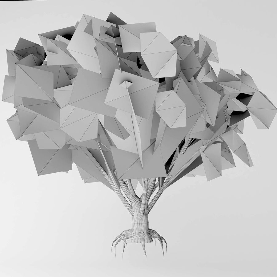 Arbusto de ancião preto royalty-free 3d model - Preview no. 5