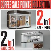 Коллекция Пунктов Продажи Кофе 2in1 3d model