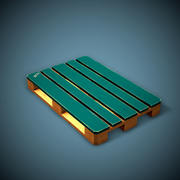 Pallet Game Ready Low Poly 3d model