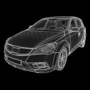 Generic European Hatchback 3d model