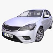 Generic European Hatchback 3d model