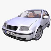 Универсальный немецкий седан 3d model