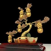 Chinese Gourd Tree with Yuanbao 3d model