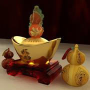 Chinese gourd with Yuanbao 3d model