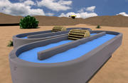 跑道池塘 3d model