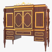 Armoire en bois avec tiroirs 3d model