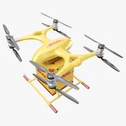 EHang DHL Экспресс Дрон 3d model