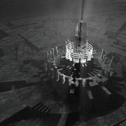 Ciudad futurista de ambiente oscuro modelo 3d