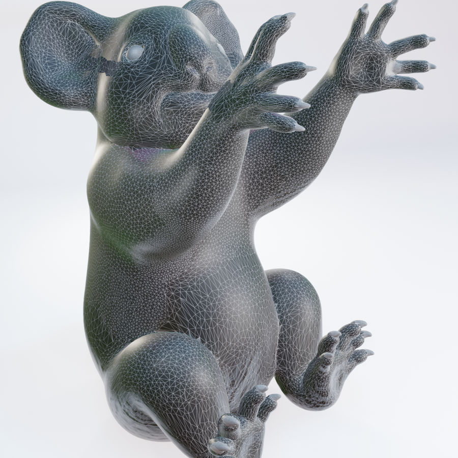 Koala familj royalty-free 3d model - Preview no. 7