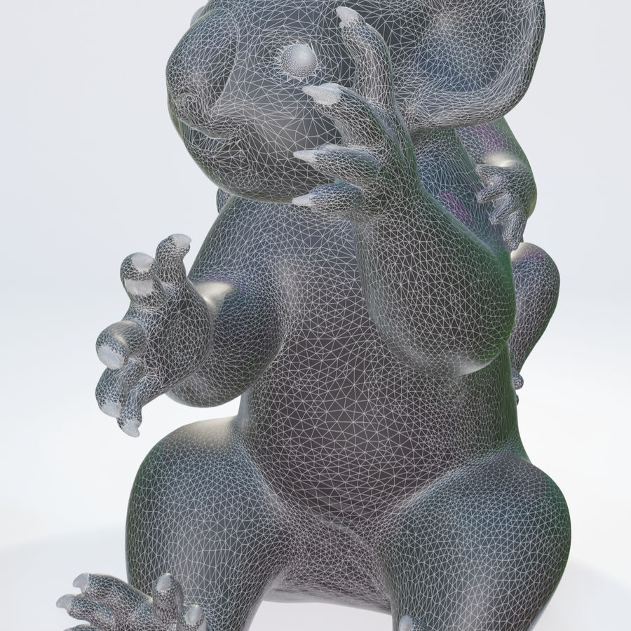 Koala familj royalty-free 3d model - Preview no. 5