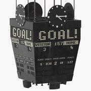 Ancien objectif du tableau de bord de hockey sur glace 3d model