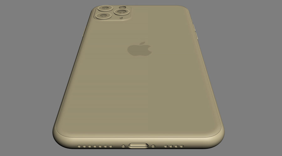 iPhone 11 Pro e iPhone 11 Pro Max royalty-free 3d model - Preview no. 35