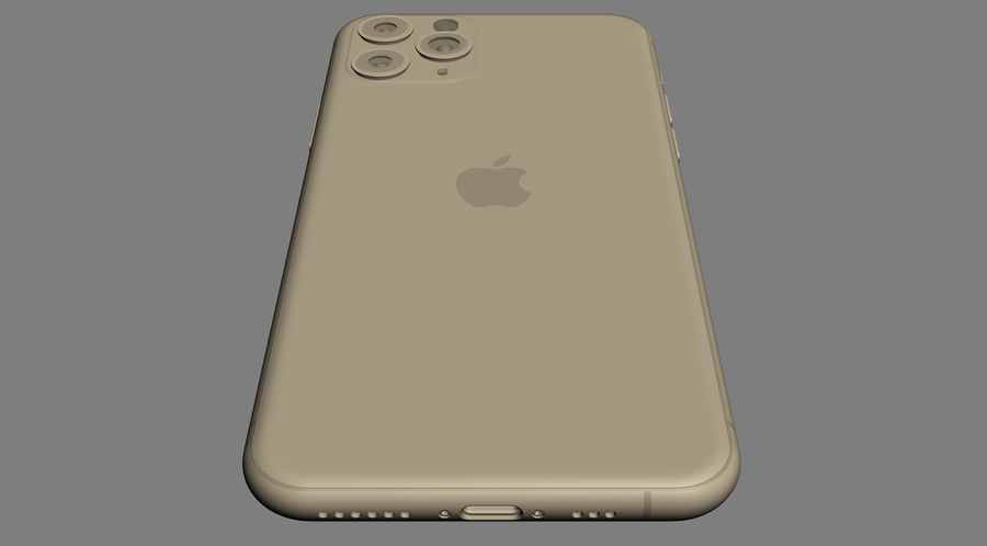 iPhone 11 Pro e iPhone 11 Pro Max royalty-free 3d model - Preview no. 19