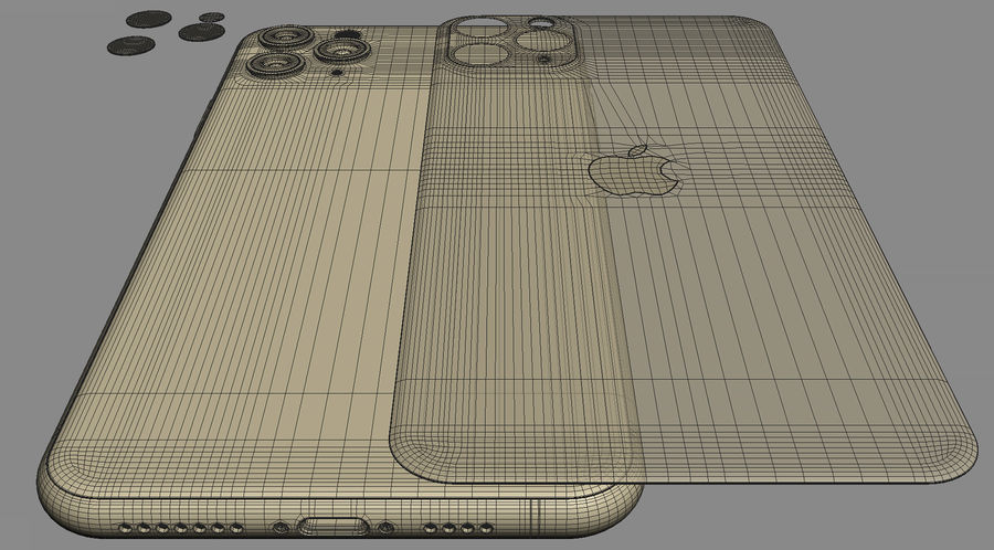 iPhone 11 Pro e iPhone 11 Pro Max royalty-free 3d model - Preview no. 36