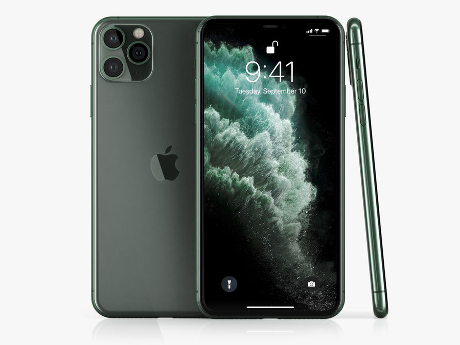 iPhone 11 Pro e iPhone 11 Pro Max royalty-free 3d model - Preview no. 3