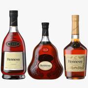 Hennessy Konyak VS VSOP XO Şişeleri Koleksiyonu 3d model