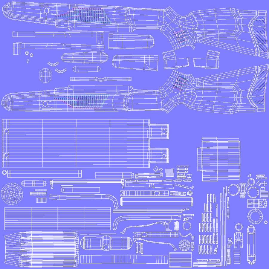 Kapsamlı Kamuflaj Kırma Namlu Havalı Tüfek royalty-free 3d model - Preview no. 14