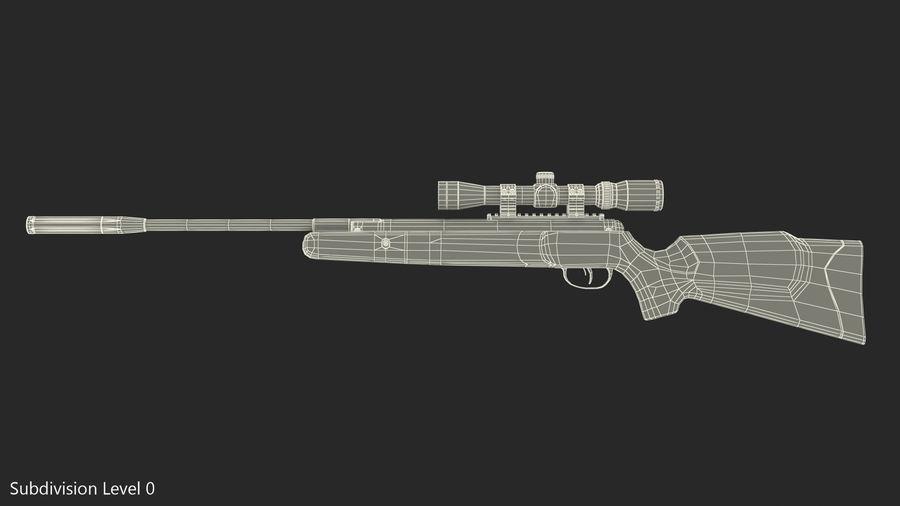Kapsamlı Kamuflaj Kırma Namlu Havalı Tüfek royalty-free 3d model - Preview no. 12