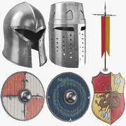 Middeleeuwse Armor Set 3d model