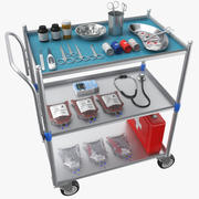 Full Medical Supply Cart 3d model