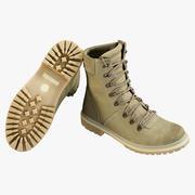 Ботинки Военный Койот 3d model