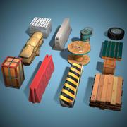 Pacchetto oggetti copertina Pronto gioco Basso poli 3d model