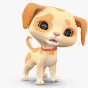 Cartoon Dog Puppy 2(1) 3d model
