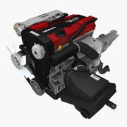 日产CA18DET 1.8L发动机 3d model