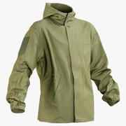 Militär grön jacka (2 sidor) 3d model