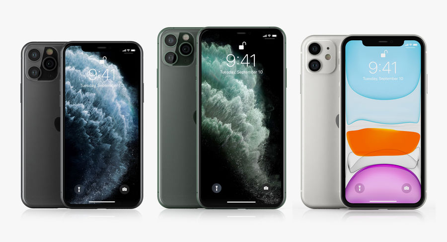 iPhone 11 Pro e iPhone 11 Pro Max e iPhone 11 royalty-free 3d model - Preview no. 2