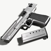 Desert Eagle Silver (Triple A) Game Ready 3d model