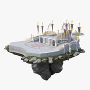 Замковый двор 3d model