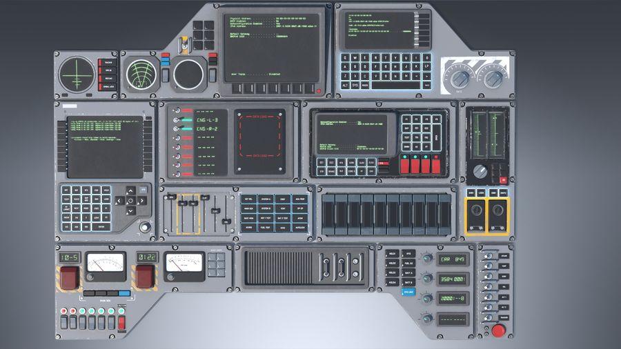 Kontrollpanel för rymdskepp royalty-free 3d model - Preview no. 2