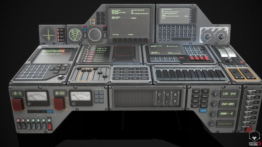 Kontrollpanel för rymdskepp royalty-free 3d model - Preview no. 9