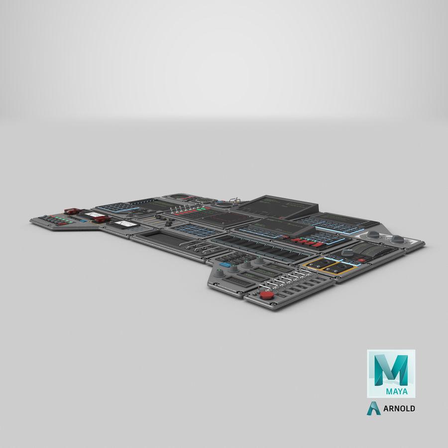 Kontrollpanel för rymdskepp royalty-free 3d model - Preview no. 24