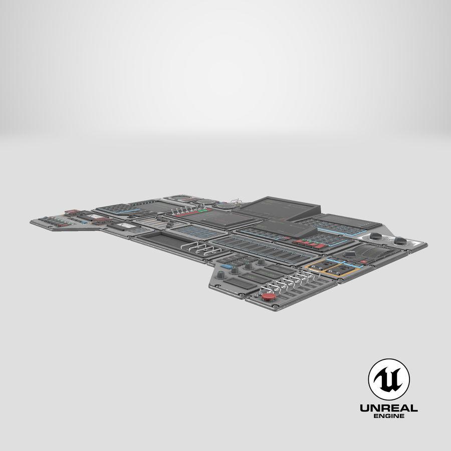 Kontrollpanel för rymdskepp royalty-free 3d model - Preview no. 20