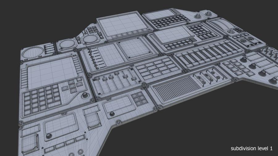 Kontrollpanel för rymdskepp royalty-free 3d model - Preview no. 10