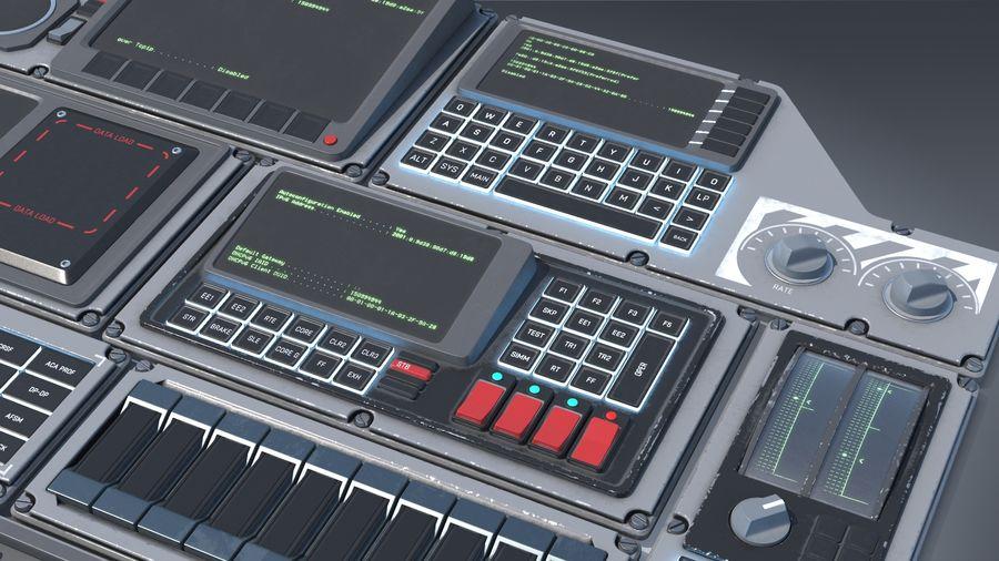 Kontrollpanel för rymdskepp royalty-free 3d model - Preview no. 6