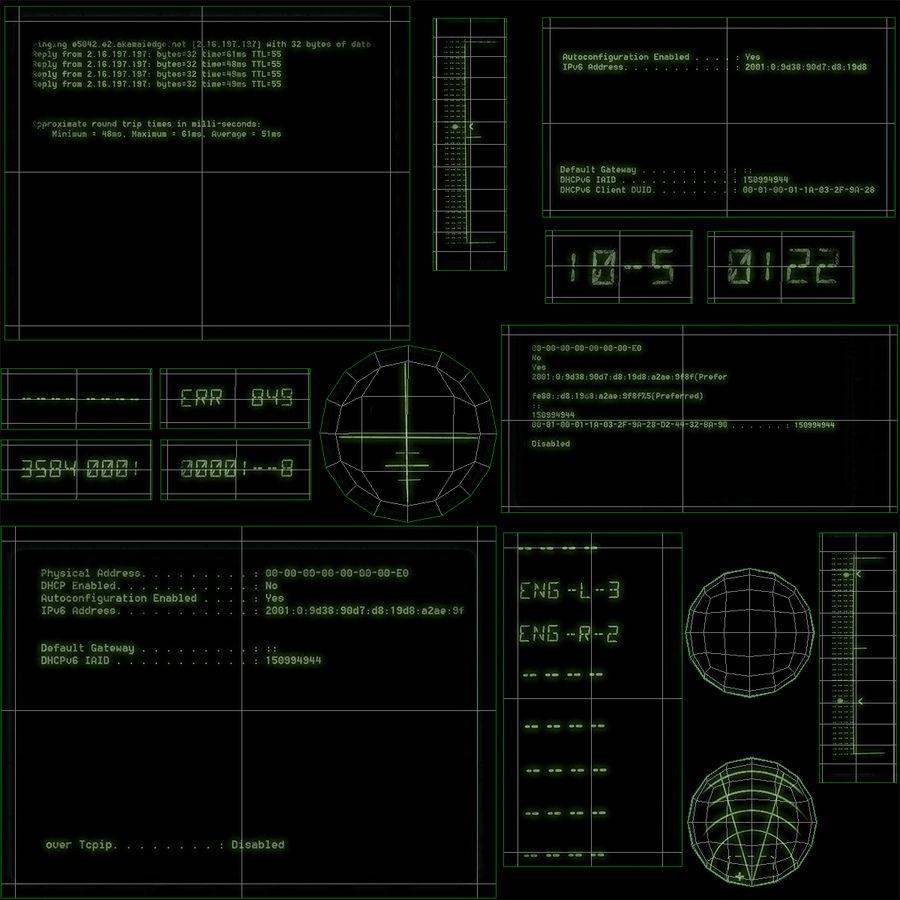 Kontrollpanel för rymdskepp royalty-free 3d model - Preview no. 14